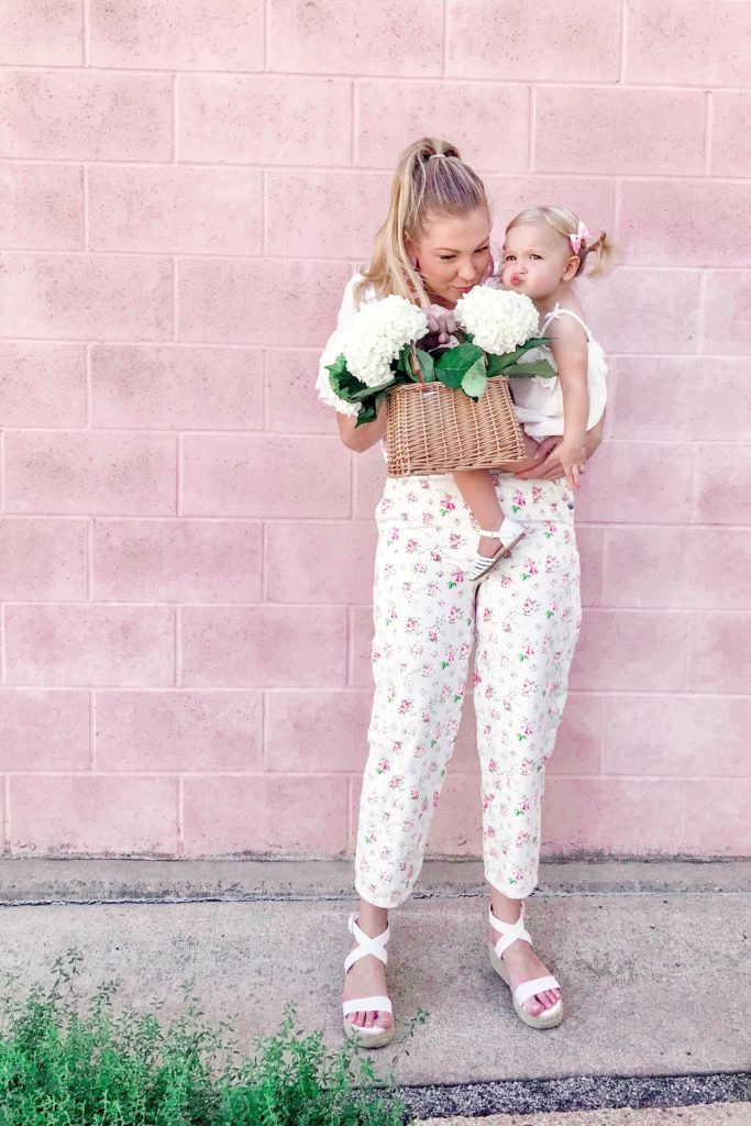 Flower Covered Overalls 1