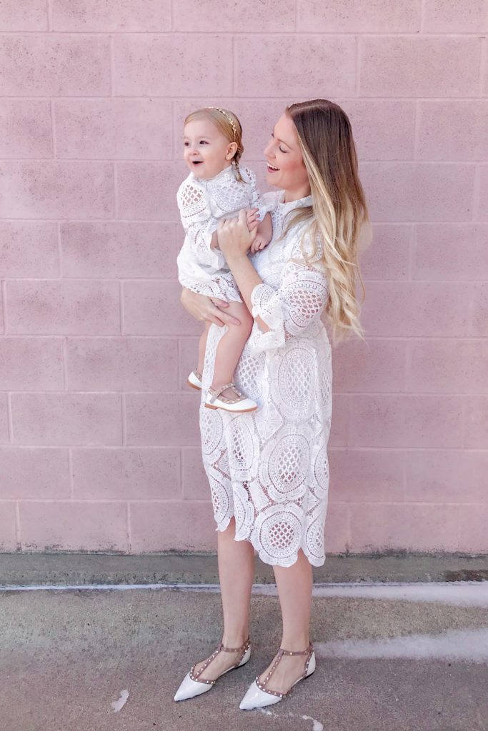White Crochet Lace Dress 1