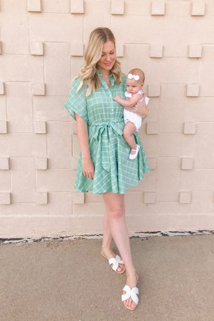 Green Button Dress 5