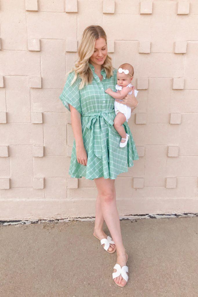Green Button Dress 5