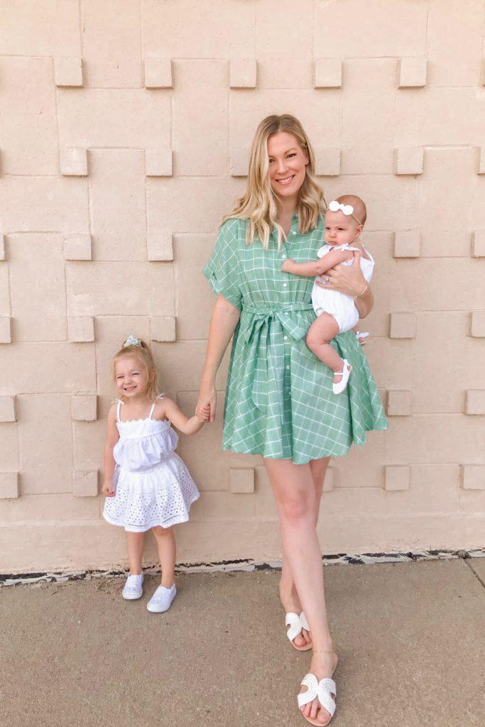 Green Button Dress 2