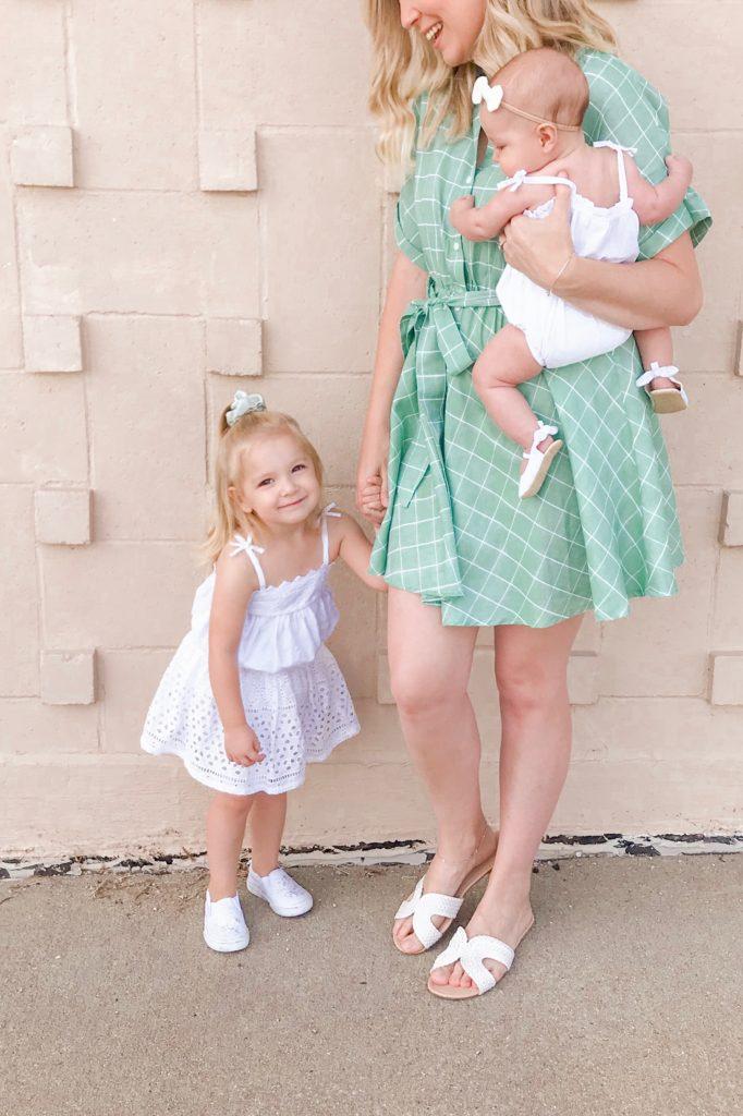 Green Button Dress 3