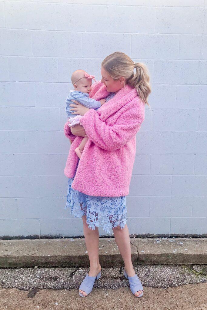 Pink Teddy Coat 3