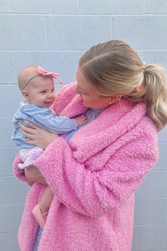 Pink Teddy Coat 1