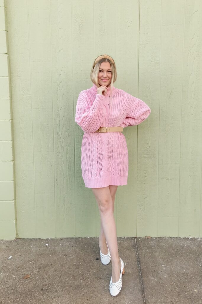 Pink Sweater Dress 4