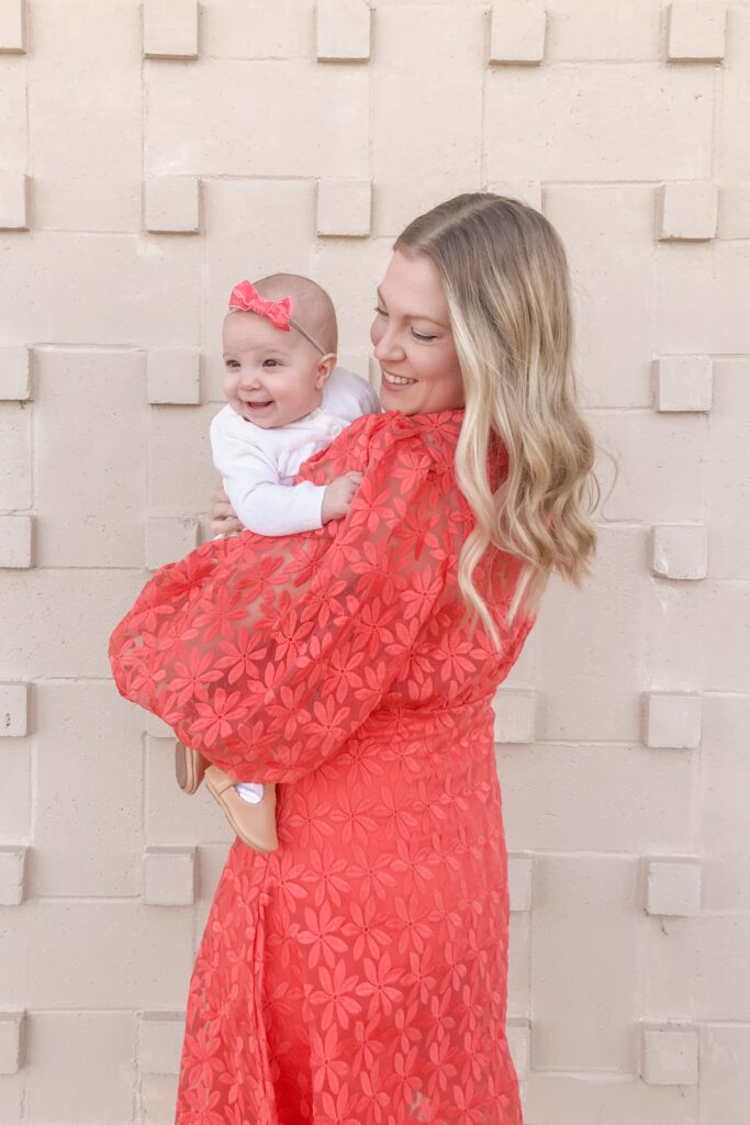 Coral Embroidered Dress 1
