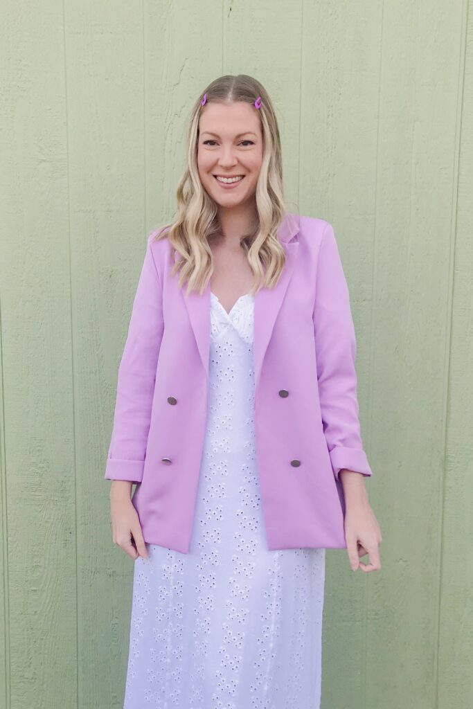 Lilac Purple Blazer 2