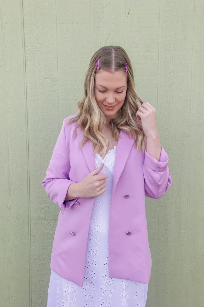 Lilac Purple Blazer 7