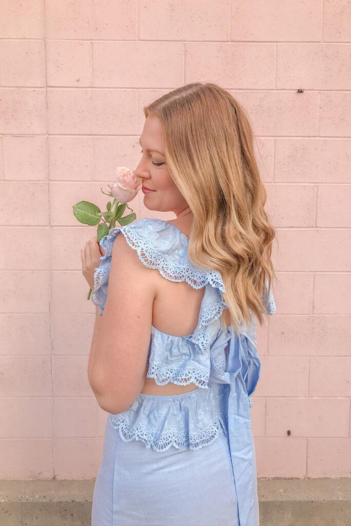 Blue Linen Dress 5