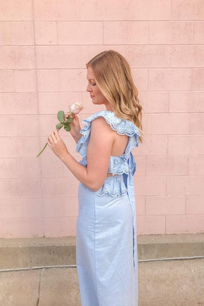 Blue Linen Dress 2