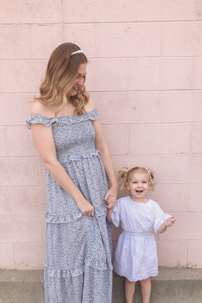 Blue Smocked Maxi Dress 2