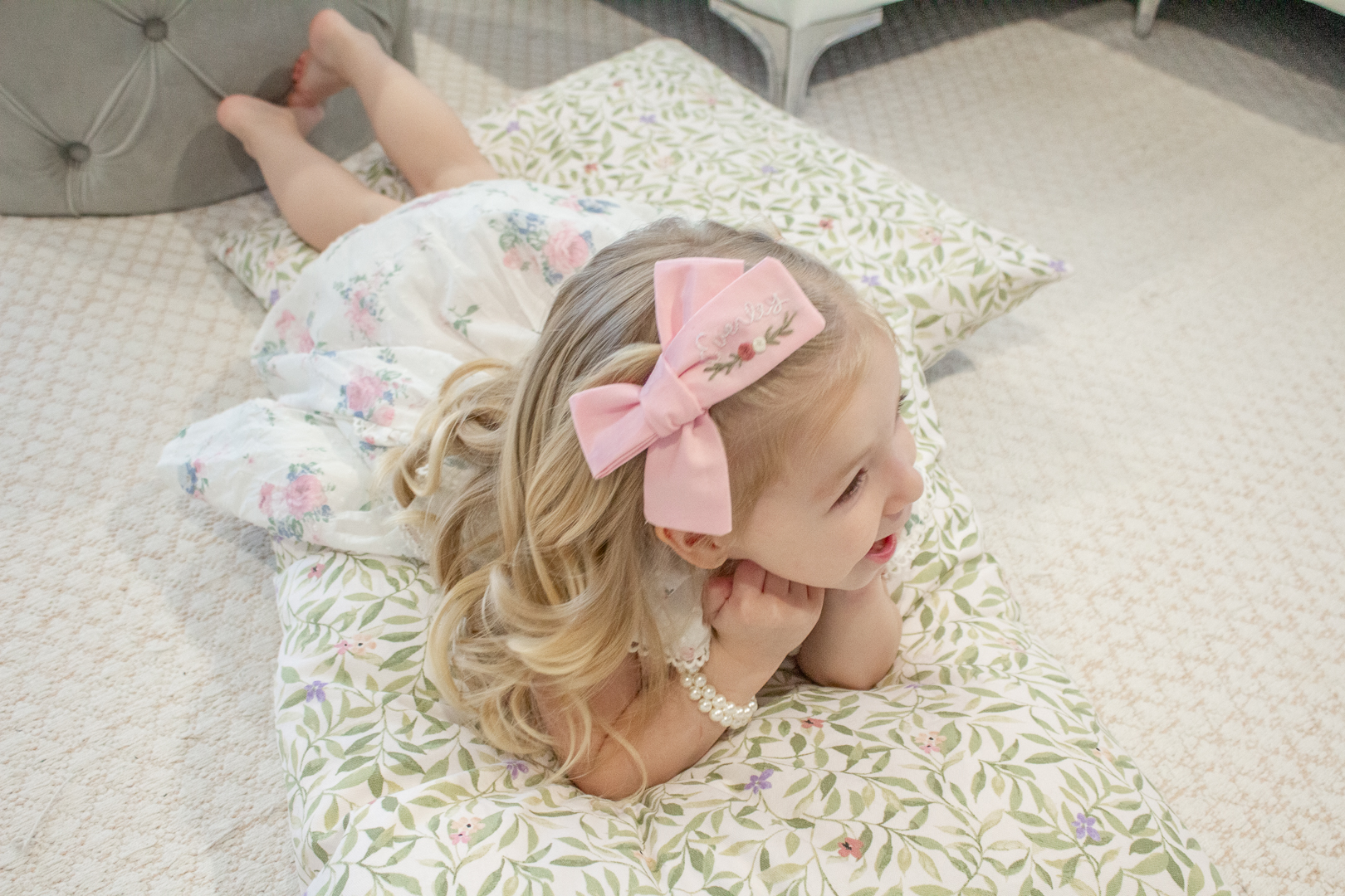 Embroidered Hair Bows 15