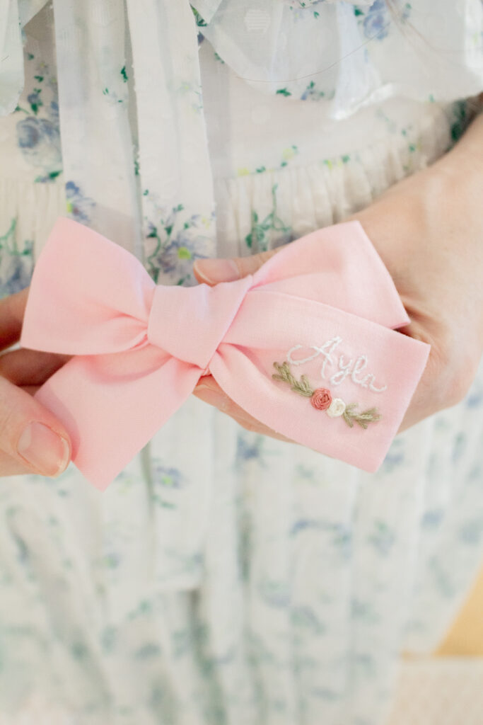 Embroidered Hair Bows 10