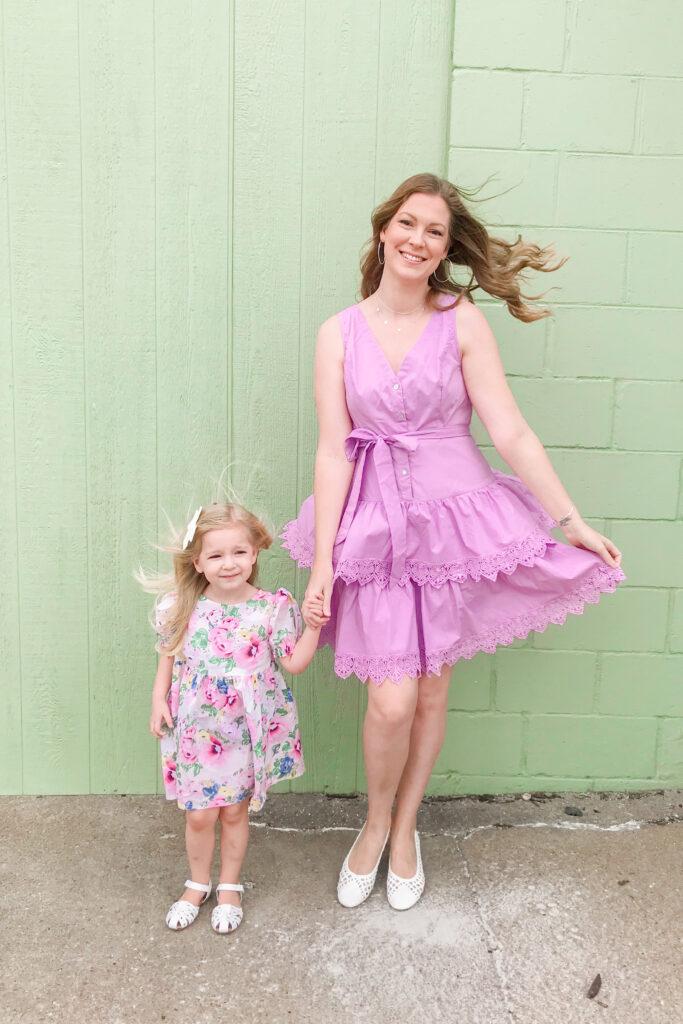 Purple Tiered Dress 4
