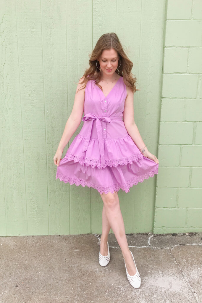 Purple Tiered Dress 3