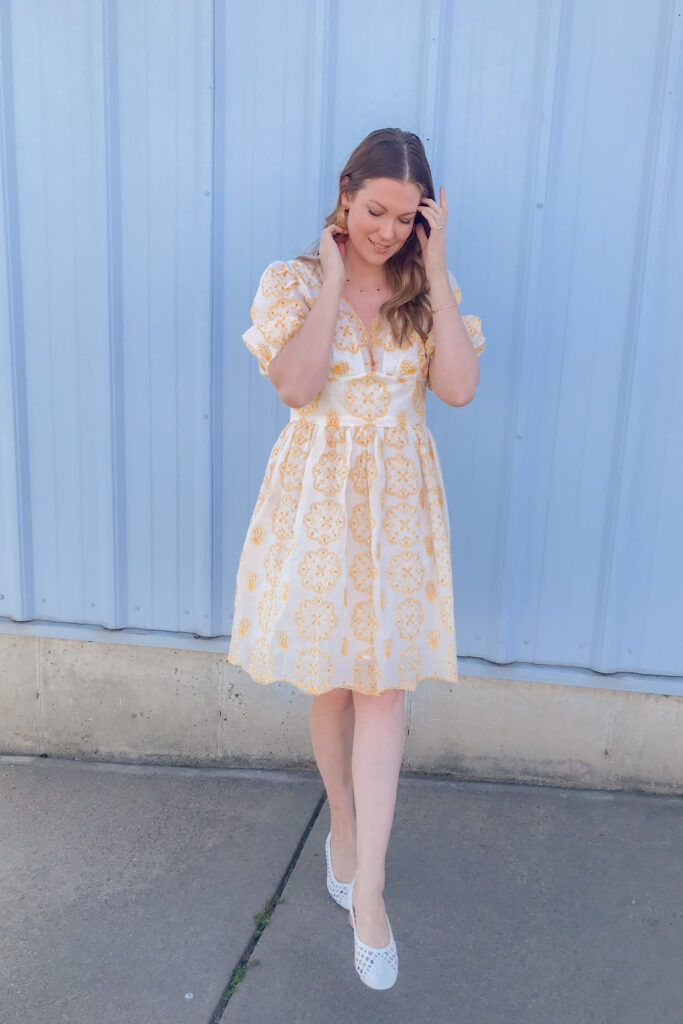 Yellow Broderie Dress 4