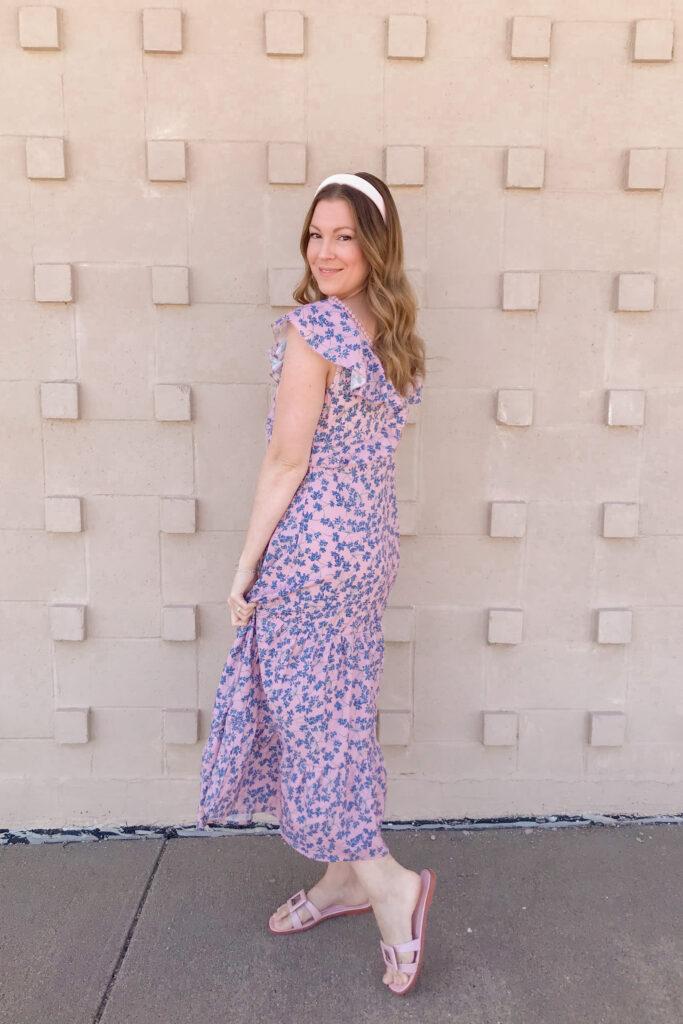 Purple Floral Dress 2