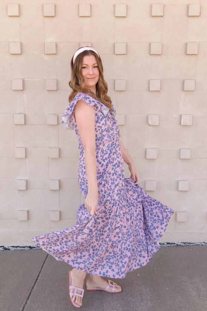 Purple Floral Dress 4