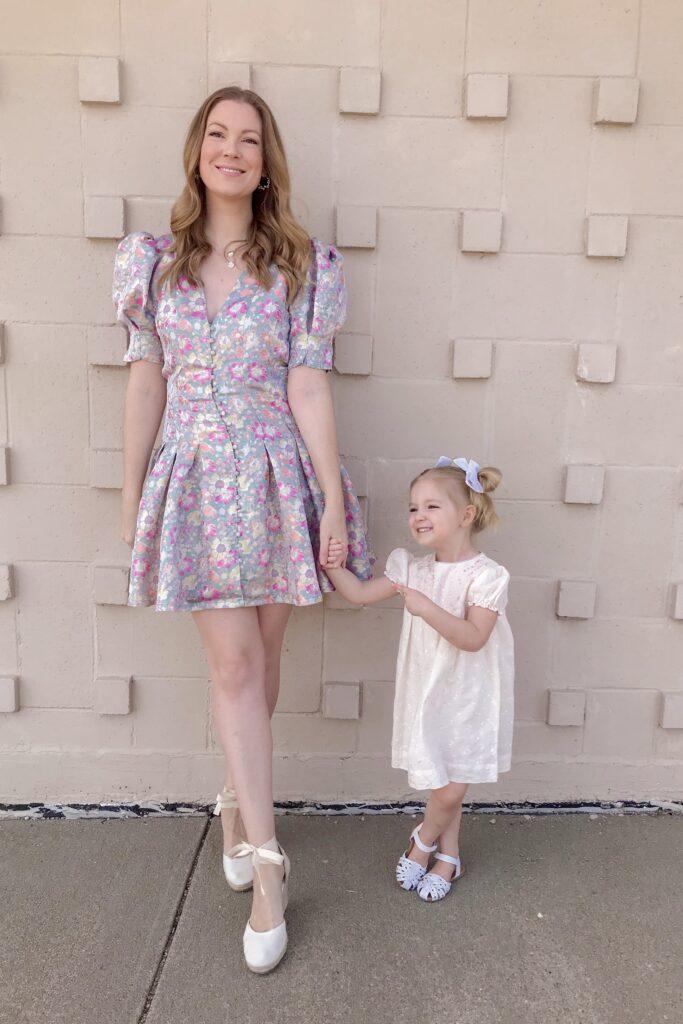 Jacquard Floral Dress 1