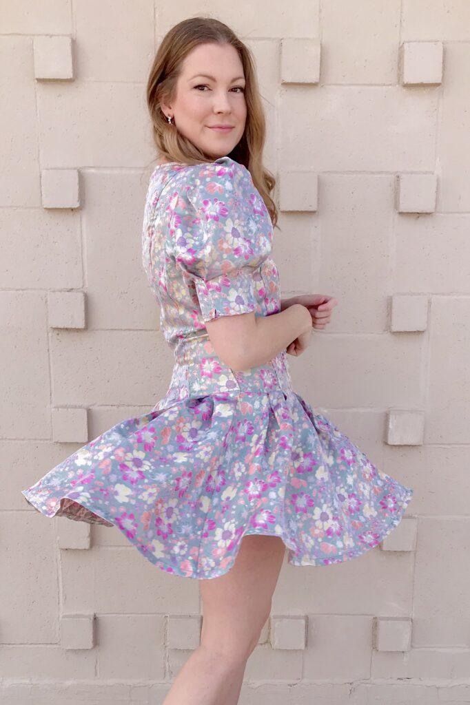 Jacquard Floral Dress 2