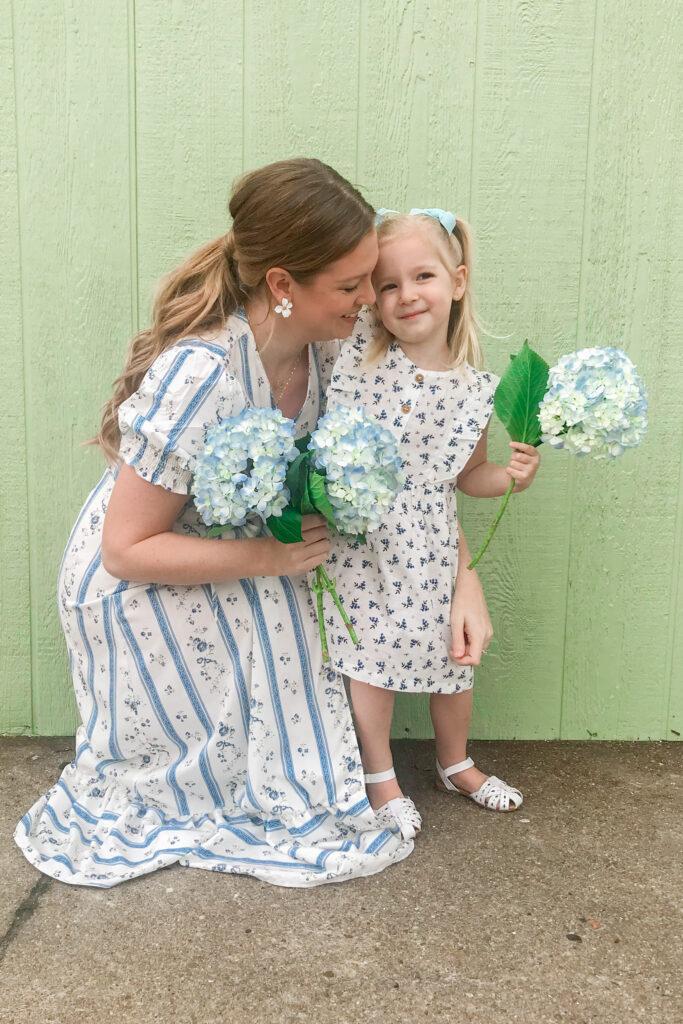 Blue & White Floral Dress 1