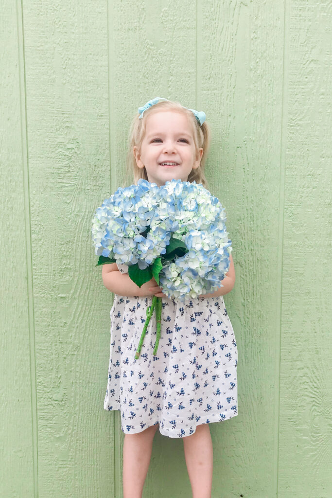 Blue & White Floral Dress 2