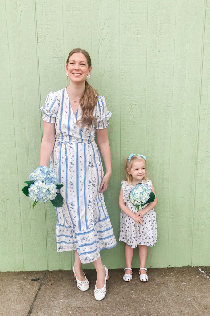 Blue & White Floral Dress 6