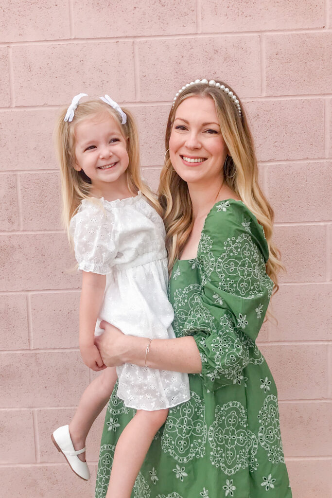 Green Embroidered Dress 6