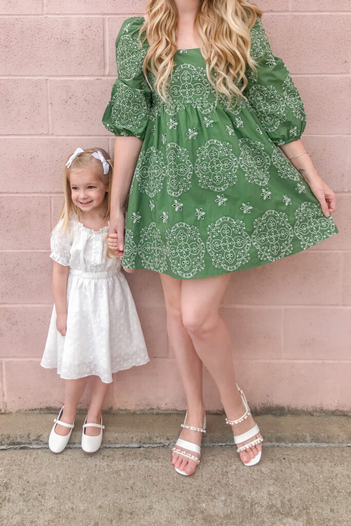 Green Embroidered Dress 2