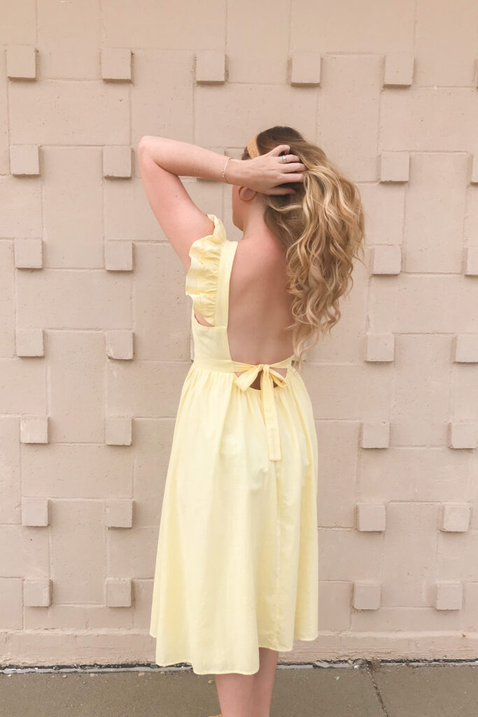 Bow Back Dress 2